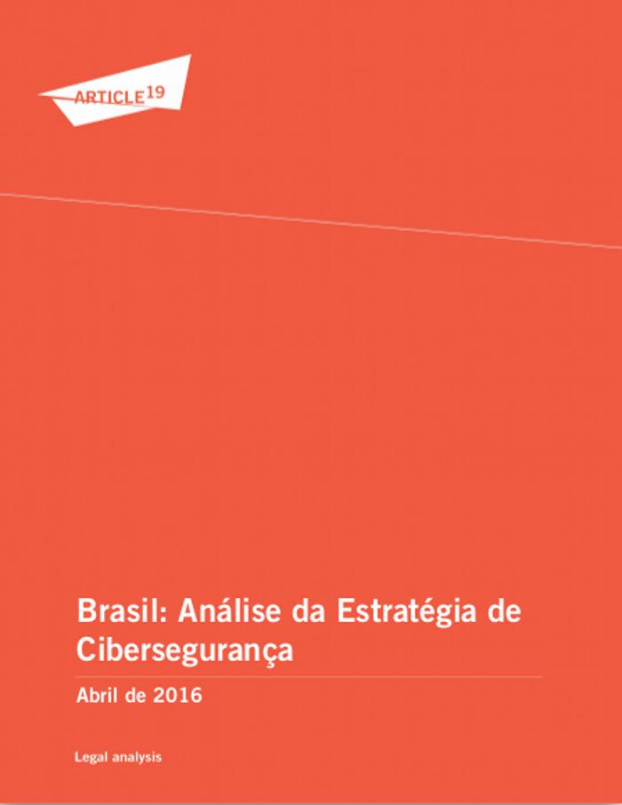 Capa Publicação Análise Estratégia Segurança Cibernética