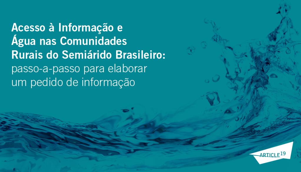 Cartilha Direito à Água e Acesso à Informação