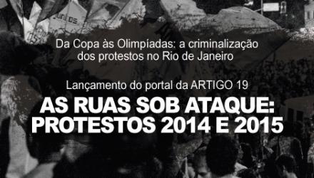 Debate sobre a criminalização dos protestos no Rio de Janeiro